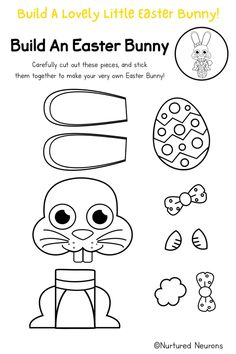 If you're after a simple and cute Easter craft look no further than this cut and paste Easter Bunny! This cute Easter craft is great for preschool and kindergarten as it's a lovely way to develop cutting and fine motor skills. There's color and black and white Easter Bunny templates and you can grab them over at Nurtured Neurons! #eastercrafts #preschool #kindergarten #finemotoractivities #simplecrafts #preschoolcrafts #kidscrafts #easterbunny #easteractivities Preschool Kindergarten, Toddler Preschool, Preschool Crafts, Easter Bunny Template, Bunny Templates, Bunny Crafts, Easter Crafts, Easter Activities, Toddler Activities