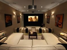 Unique Basement Movie Room
