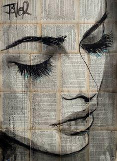 Loui Jover – wave – About Face Makeup Wave Drawing, Newspaper Art, Sketch Painting, Arte Pop, Portrait Art, Face Art, Art Pictures, Collage Art, Amazing Art