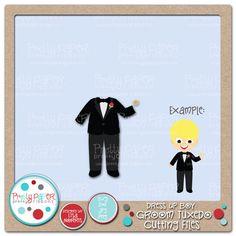 Pretty Paper, Pretty Ribbons Dress Up Boy Groom Tuxedo Cutting Files