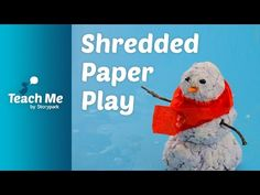 What you will need: - shredded paper - water . Recycling used paper is not only good for the environment, it can also be used for children's art. Shredded Paper, Paper Sculptures, Story Time, Learning Activities, Early Childhood, Recycling, Environment, Teaching, Creative
