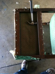 Taking off the old upholstery