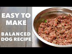 Πως να φτιάξετε εύκολα τη δική σας φυσική ισορροπημένη τροφή για σκύλους [Video] - All About Dog
