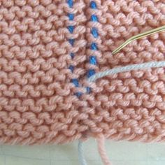 How to do Garter Stitch Invisible Join How-To's With Photos