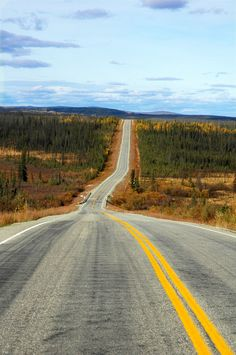 Alaskan Highway outside of White Horse