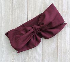 Eggplant Wrap  Headwrap Baby Headband Fabric by BrittsBowtiqueVA