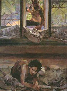 Jacek Malczewski - Model in the atelier of the painter