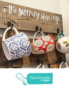 Coffee Cup Hanger - Reclaimed Pallet Wood - Coffee Mug Holder - Holds 9 Mugs from Pretty In Polka Dots KY…