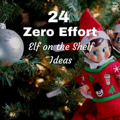 Looking for easy Elf on the Shelf ideas this Christmas? Take a look at 24 zero faff, no effort Elf ideas to get you going until Christmas day!