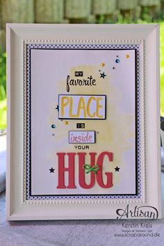 Stampin' Up! Color your world BlogHop - Dekorahmen mit Spruch