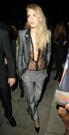 Best dressed with Laura Whitmore, Ellie Goulding and Cara Delevingne. LFW images - sugarscape.com