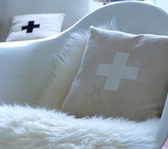 swiss cross cushions!