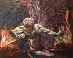 My first commission! Based on the album cover 'Sad wings of destiny' Judas Priest. by Holly Knowles