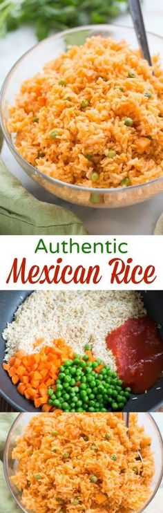 The BEST, truly authentic Mexican rice! Super easy to make from home, and a nece… The BEST, truly authentic Mexican rice! Super easy to make from home, and a necessary side dish for all of your favorite Mexican recipes. Side Dish Recipes, Pasta Recipes, Cooking Recipes, Healthy Recipes, Slow Cooking, Healthy Nutrition, Food Recipes Snacks, Drink Recipes, Yummy Dinner Recipes