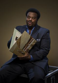 """Actor Craig Robinson is photographed with a vinyl copy of Stevie Wonder's Innervisionsbackstage atthe taping for """"Stevie Wonder: Songs In The Key Of Life — An All-Star GRAMMY Salute"""" on Feb. 10 in Los Angeles"""