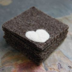 Heart Felted Coaster