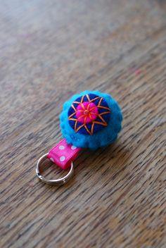 felt zipper pendant