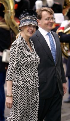 Prince Johan Friso & Princess Mabel Visit Binnenhof As Part Of The Annual Queen'S Day Celebrations In Holland.