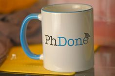 PhDone // Academic Humor Mug // PhD Mug // Grad Student Gift