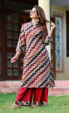 Indian Bollywood kurta dress With Plazzo Dupatta Tunic Set blouse Combo Ethnic