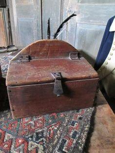 Tattered N' Torn Candle Box Old Wooden Boxes, Antique Boxes, Antique Decor, Primitive Furniture, Primitive Antiques, Primitive Decor, Old Farm Equipment, Prim Decor, Candle Box