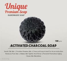 Bathing Soaps  PetalsUnique Bath Soap Type: Bath Soap Description: It Has 1 Piece Of Charcoal Soap Ingredients  Activated charcoal powder Almond oil Coconut oilCastro oilVit e Glycerin Sucrose Aqua Lye 1. Treats Oily Skin 2. Provides Flawless Skin 3. Charcoal Soap is best For Acne reduction 4. Reduces Pore Size 5. Makes Skin Tighter And Firmer 6. Prevents Premature Aging 7.Clears Skin Blemishes Country of Origin: India Sizes Available: Free Size   Catalog Rating: ★4.1 (41228)  Catalog Name: Authentic Handmade Soaps Vol 6 CatalogID_71493 C177-SC2058 Code: 351-635852-
