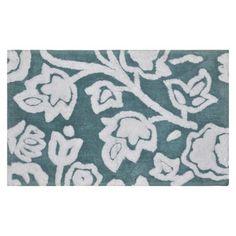 Threshold™ Floral Rug - Aqua