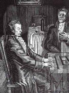 Фаворский Владимир Андреевич. Моцарт и Сальери