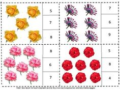 Flowers Count to 20 Task Cards Morning Work Early Finishers Math Centers-This Flower Count to 20 count and clip math packet works well for preschool, kindergarten, special education and students with autism. They will count the objects and clip a clothespin on the correct number.     This set contains 20 task cards.