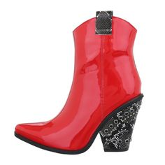 Botas Vermelhos Biker Rubber Rain Boots, Biker, Shoes, Fashion, Red Boots, Women's Boots, Rouge, Women's, Moda