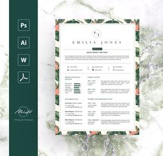 Leaf Floral Resume Template / CV template / FREE Cover letter ---CLICK IMAGE FOR MORE--- resume how to write a resume resume tips resume examples for student Resume Tips, Resume Cv, Resume Design, Resume Writing, Resume Format, Resume Ideas, Cv Template Free, Resume Templates, Resume Template Australia