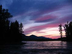 Sunset in Glacier National Park, Montana. -- An Original by Sir Ian Huxley - http://pinterest.com/realestatemogul/