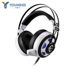 High quality Computer Gaming Headphones Dual 3.5mm + USB Interface Glowing headphones Vibration Effects LOL / CS Gaming Headset