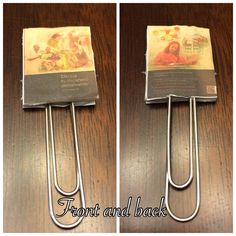 Pioneer book paper clip. Take pic of the book, decrease size, print and glue to white foam sheet.