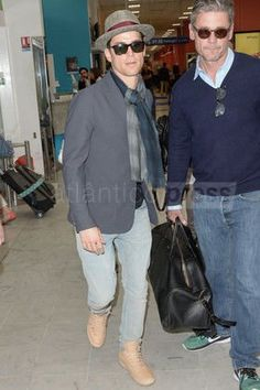 Matt and Simon at the Nice airport going to Cannes