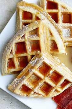 A Homemade and Classic Buttermilk Waffles Recipe that will put all others to shame. This recipe has a beautiful crunchy golden brown exterior and beautiful tender and flavorful texture inside. Breakfast will never be the same.