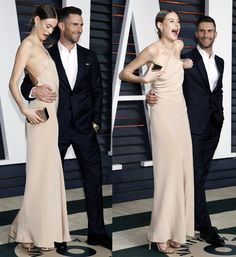 Behati Prinsloo and Adam Levine at the 87th Annual Oscars – Vanity Fair Oscar Party in Beverly Hills on February 22, 2015