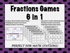Six games to help your students master fractions.