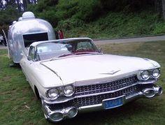 '59 Cadillac w/ Airstream trailer