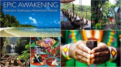 The Epic Awakening  Shamanic Ayahuasca Adventure Retreat January 25th-31st Manuel Antonio, Costa Rica   Join us for an intimate group transformation retreat that incorporates Adventure, Pilates, Yoga, Myofascial Release, Meditation, Organic Superfood plant based cuisine, 2 ayahuasca ceremonies, and traditional sweat lodge set amongst pristine beaches and rainforest.   Inquire or register with Daniel@EpicSelf.com. #Ayahuasca #Pilates #Yoga #Meditation #costarica #plantbased