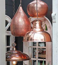Bushnell Gardens Nursery: Home Decor Accent Pieces: Copper Pendant Lamps