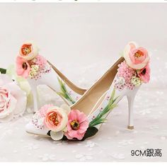 Look what I found on AliExpress Girls High Heel Shoes, Fairy Shoes, Jeweled Shoes, Flower Shoes, Beautiful High Heels, Decorated Shoes, Corsages, Pretty Shoes, Fashion Heels