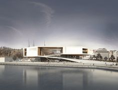 Guggenheim Helsinki | Kimmel Eshkolot Architects Concept Architecture, Facade Architecture, Landscape Architecture, Great Buildings And Structures, Modern Buildings, Shopping Mall Architecture, Exterior Rendering, Dubai Skyscraper, Mall Design