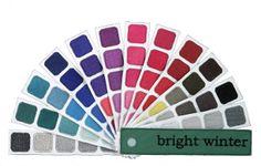 Bright Winter color Swatch book from Indigo Tones