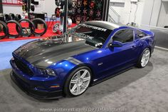 Ford Mustang SEMA 2012 Trufiber that's a true blue