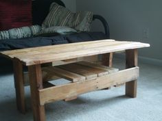 Upcycled Pallet Coffee Table. $100.00, via Etsy.