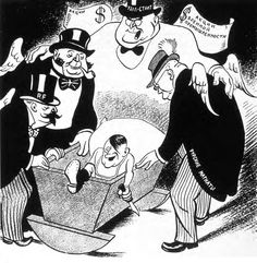 A Soviet cartoon published in 1936. It shows the western countries with Hitler.