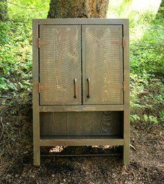 Rustic Reclaimed Medicine Cabinet by EchoPeakDesign on Etsy, $255.00