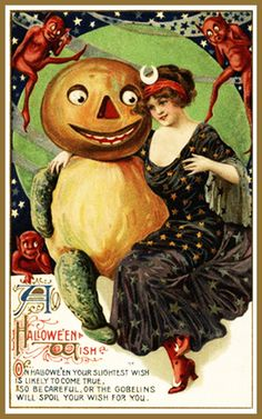 art-nouveau-halloween-post-card-pumpkin-man.jpg (400×640)