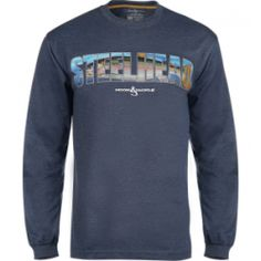 Men's Steelhead Salmon L/S UV Fishing T-Shirt